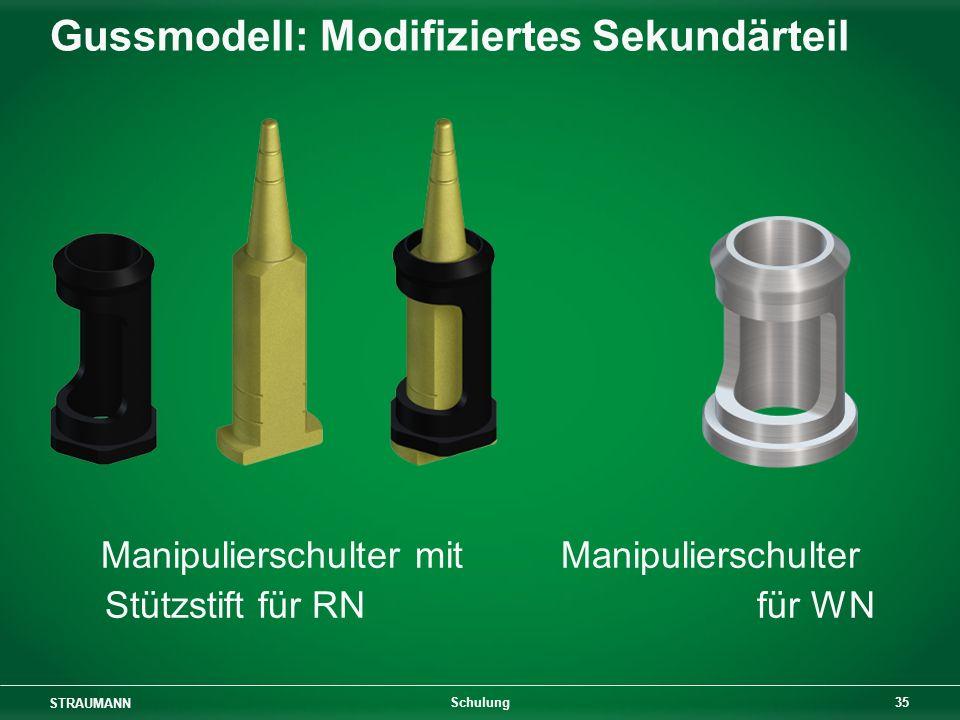 Gussmodell: Modifiziertes Sekundärteil