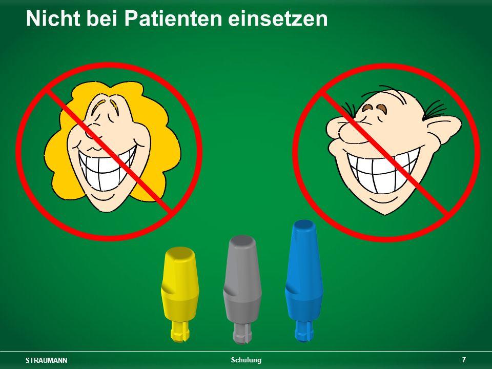 Nicht bei Patienten einsetzen