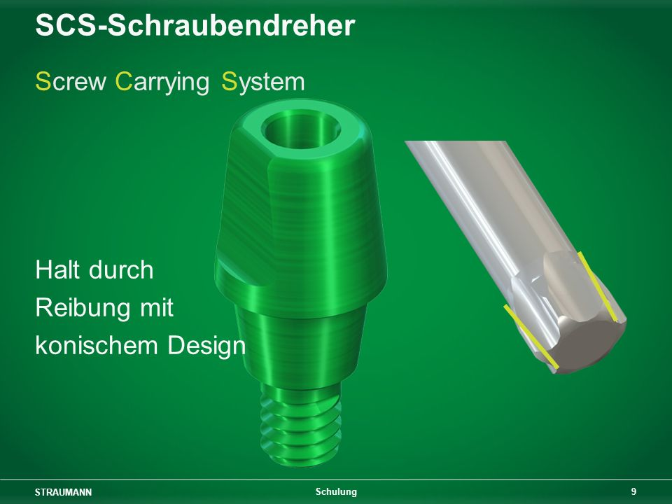 SCS-Schraubendreher Screw Carrying System Halt durch Reibung mit