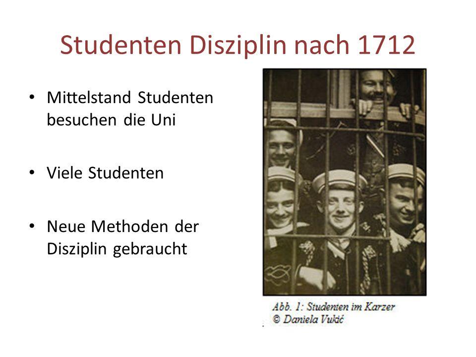 Studenten Disziplin nach 1712