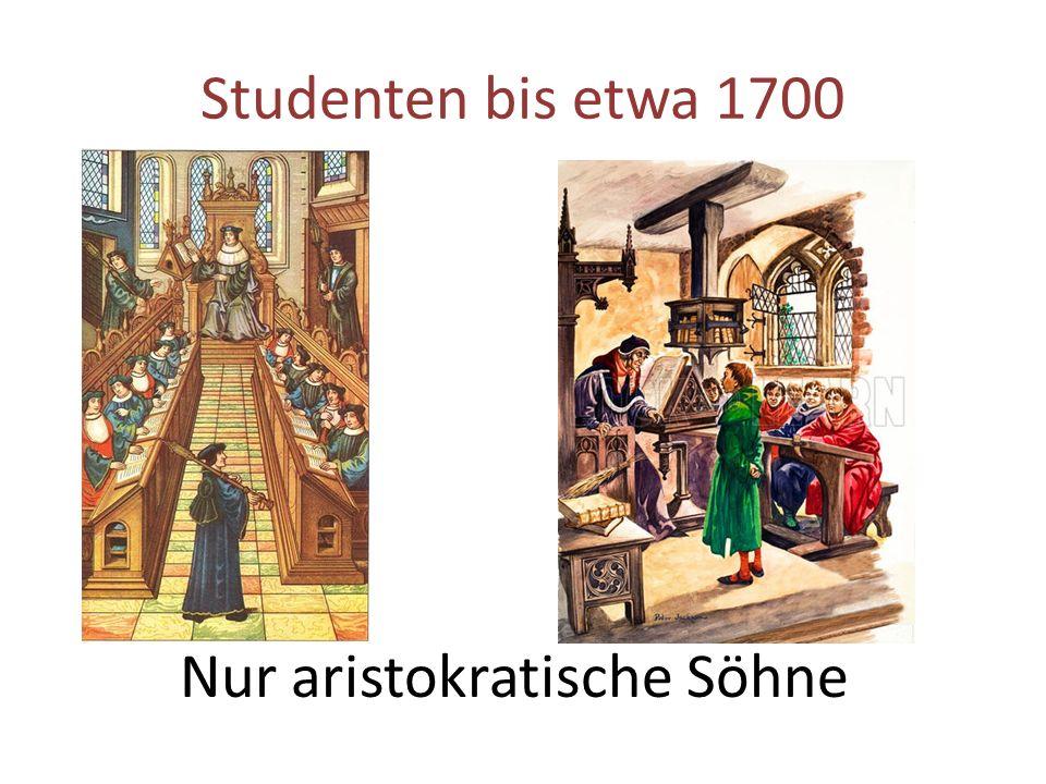 Nur aristokratische Söhne