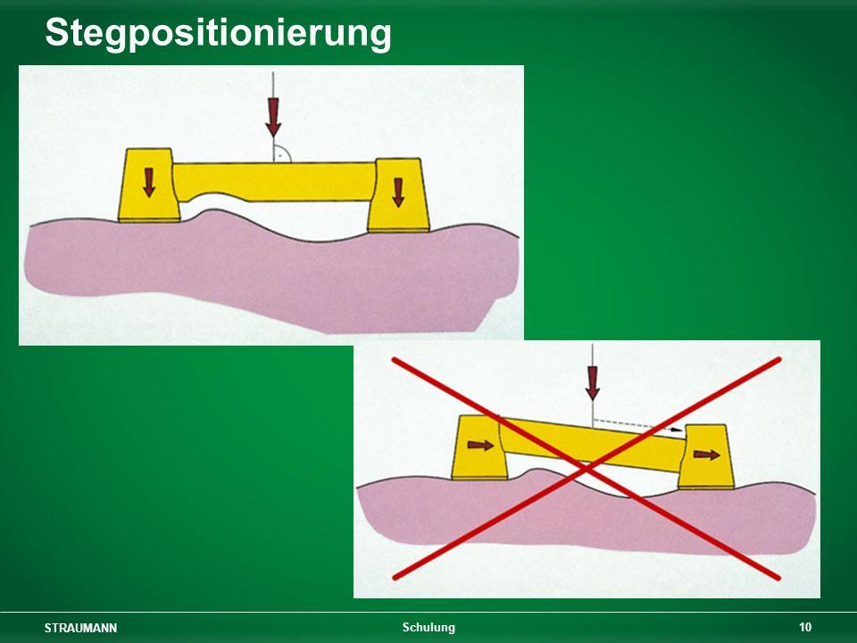 Stegpositionierung Schulung