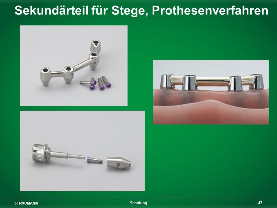 Sekundärteil für Stege, Prothesenverfahren