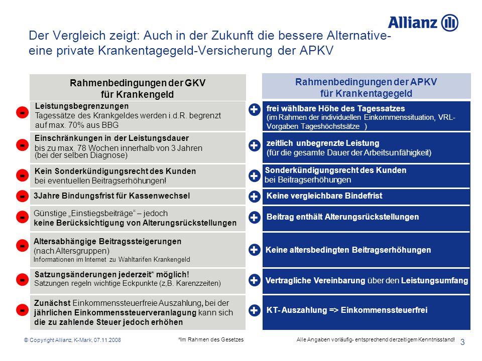 Der Vergleich zeigt: Auch in der Zukunft die bessere Alternative- eine private Krankentagegeld-Versicherung der APKV