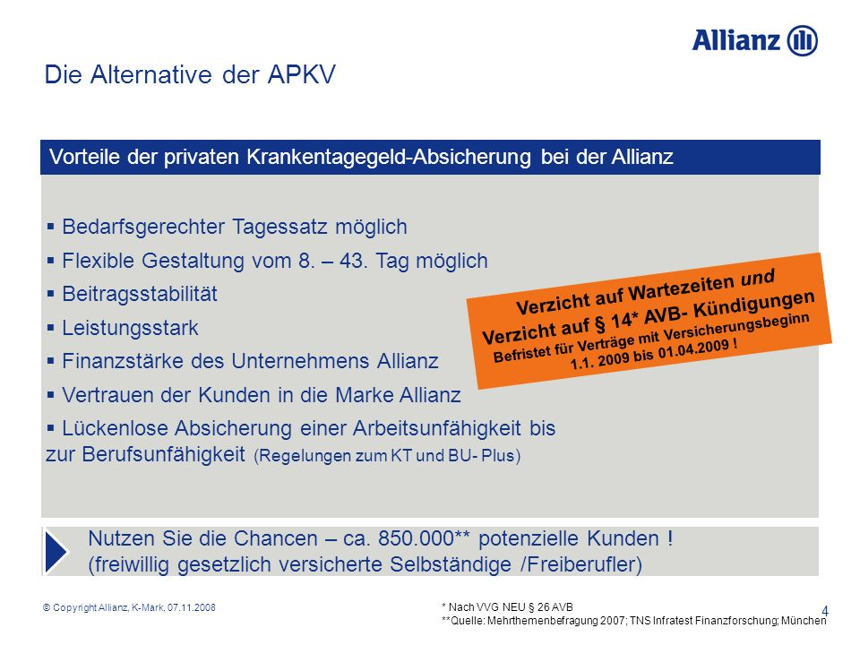 Die Alternative der APKV