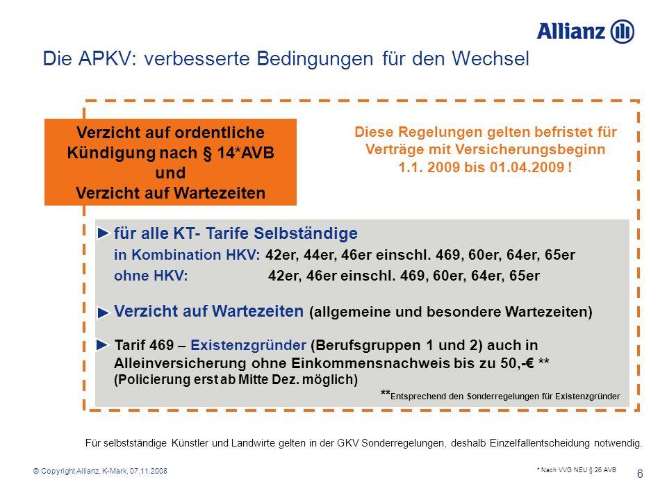 Die APKV: verbesserte Bedingungen für den Wechsel