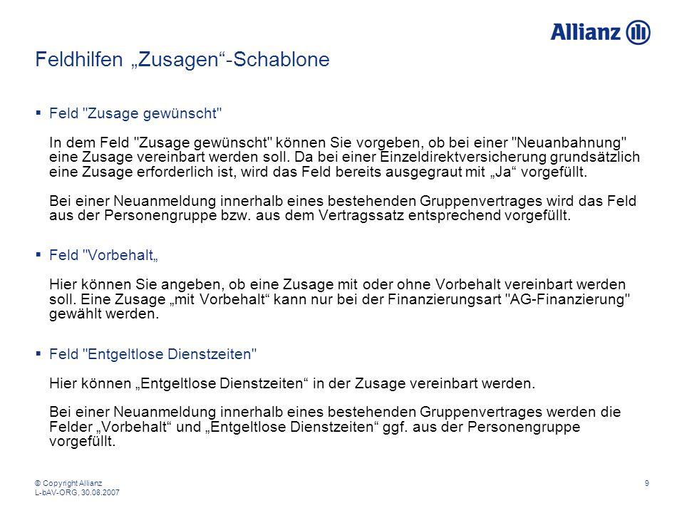 """Feldhilfen """"Zusagen -Schablone"""