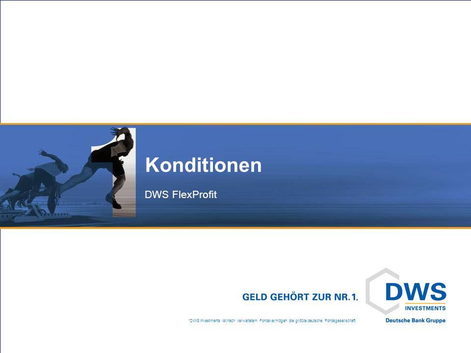 DWS FlexProfit Fondsüberblick*