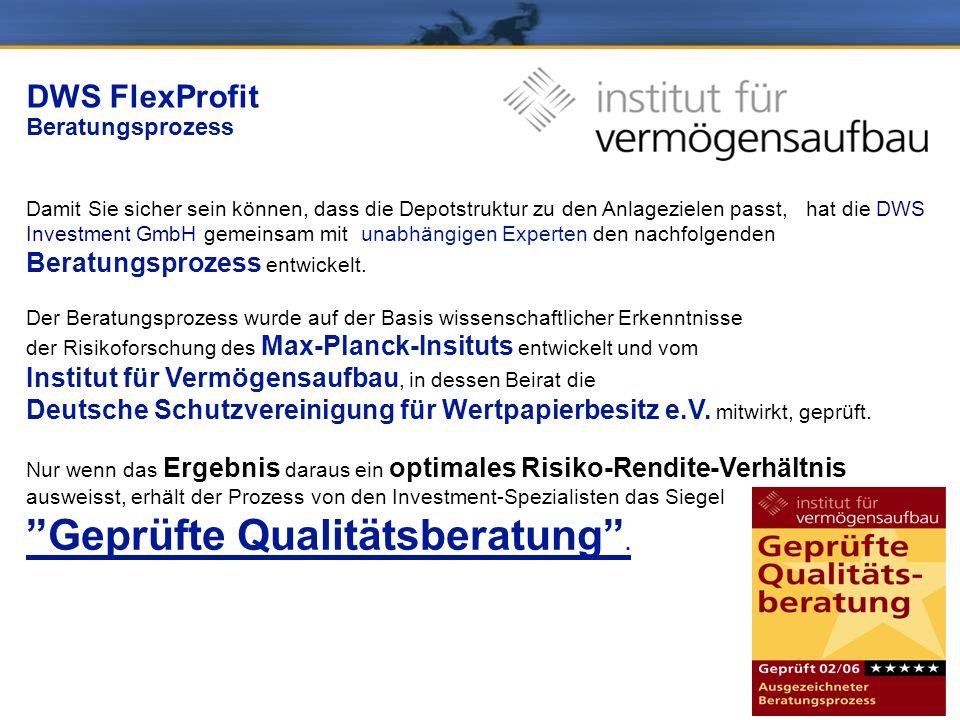 DWS FlexProfit Beratungsprozess