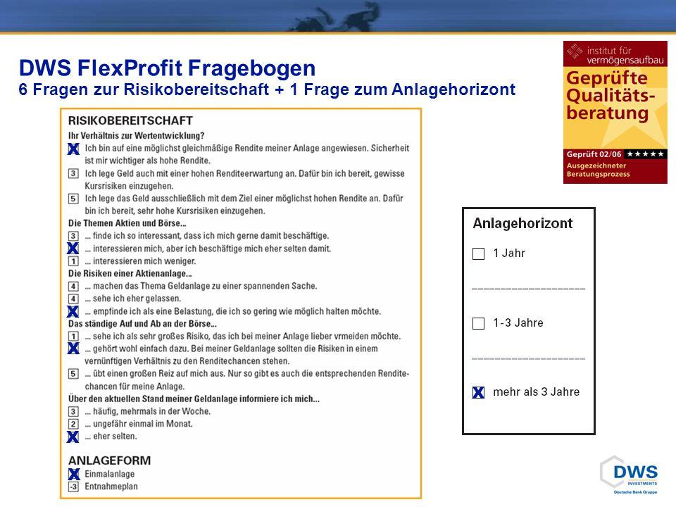 DWS FlexProfit Fragebogen