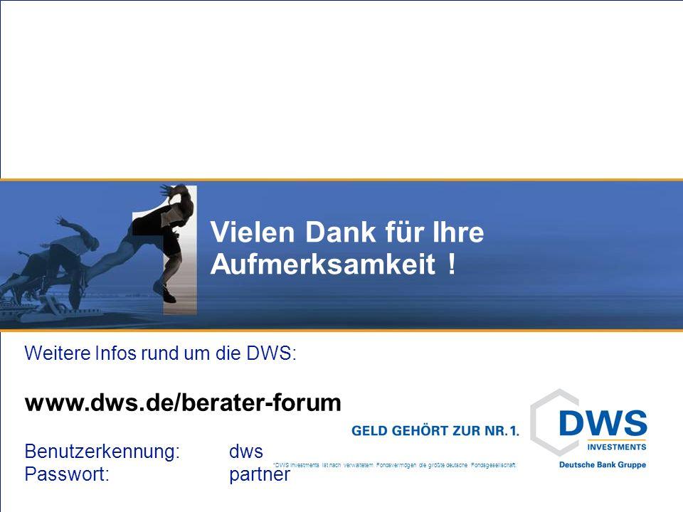 DWS ZukunftsPlan/System: Was gibt es Neues