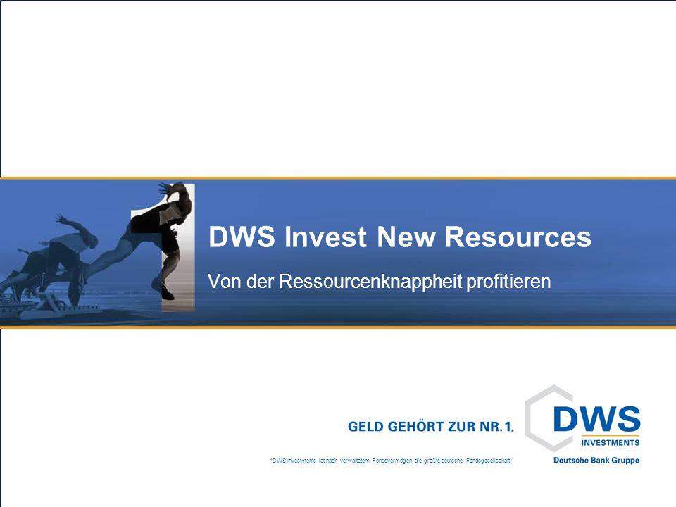 DWS Invest New Resources Genug Ressourcen für alle
