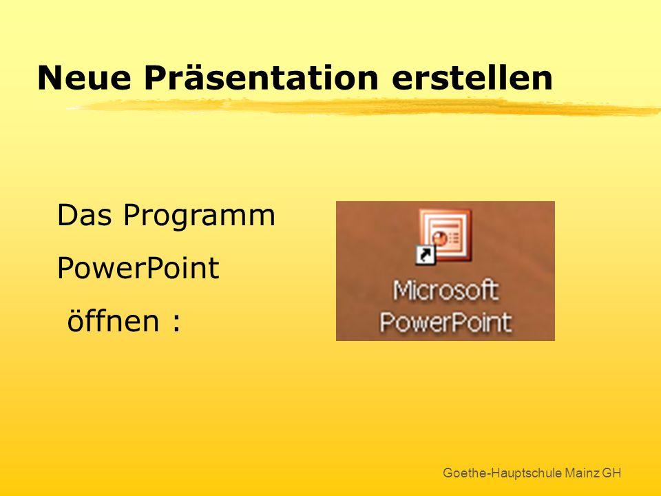 Neue Präsentation erstellen