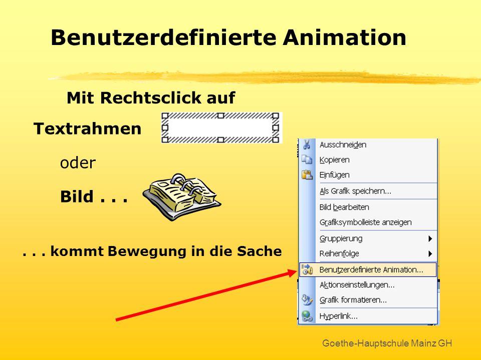 Benutzerdefinierte Animation