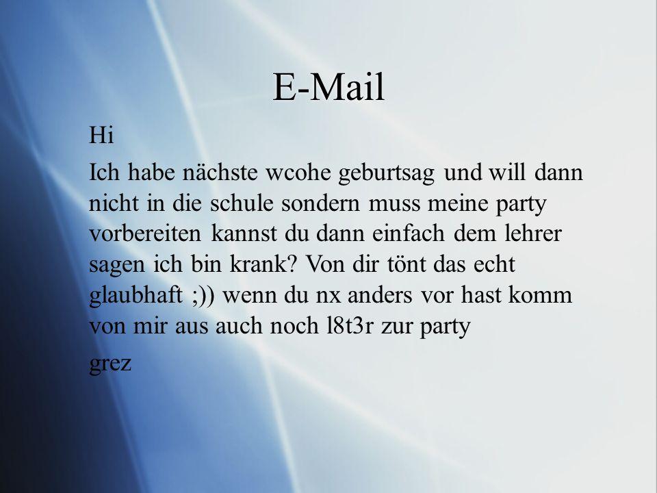 E-Mail Hi.