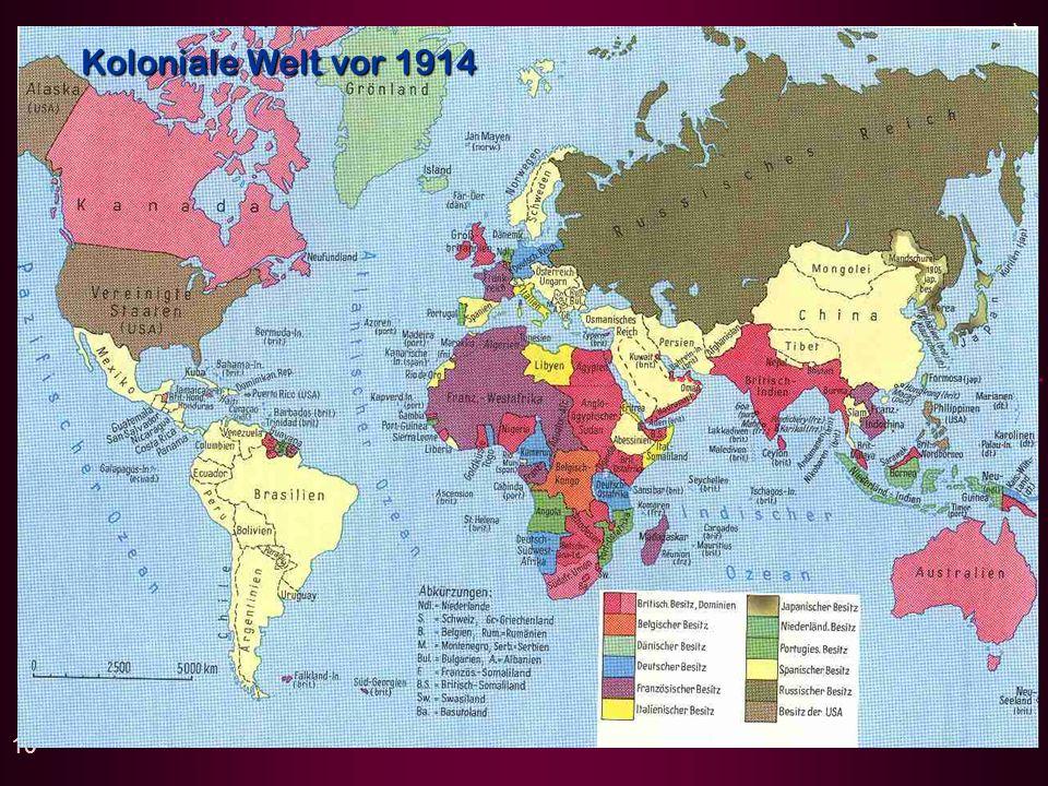 Koloniale Welt vor 1914