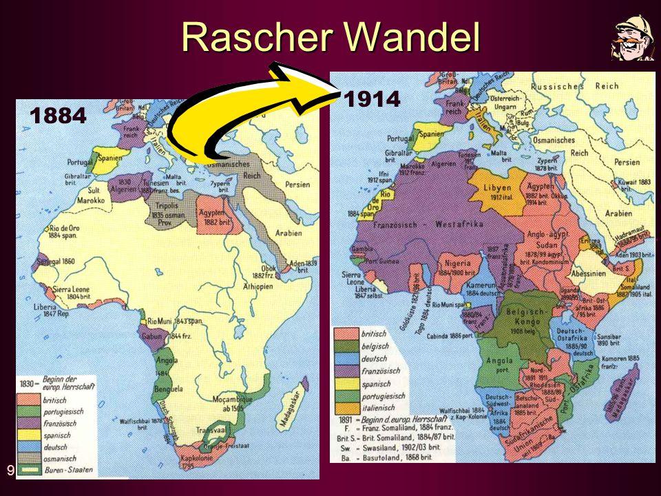 Rascher Wandel 1914 1884