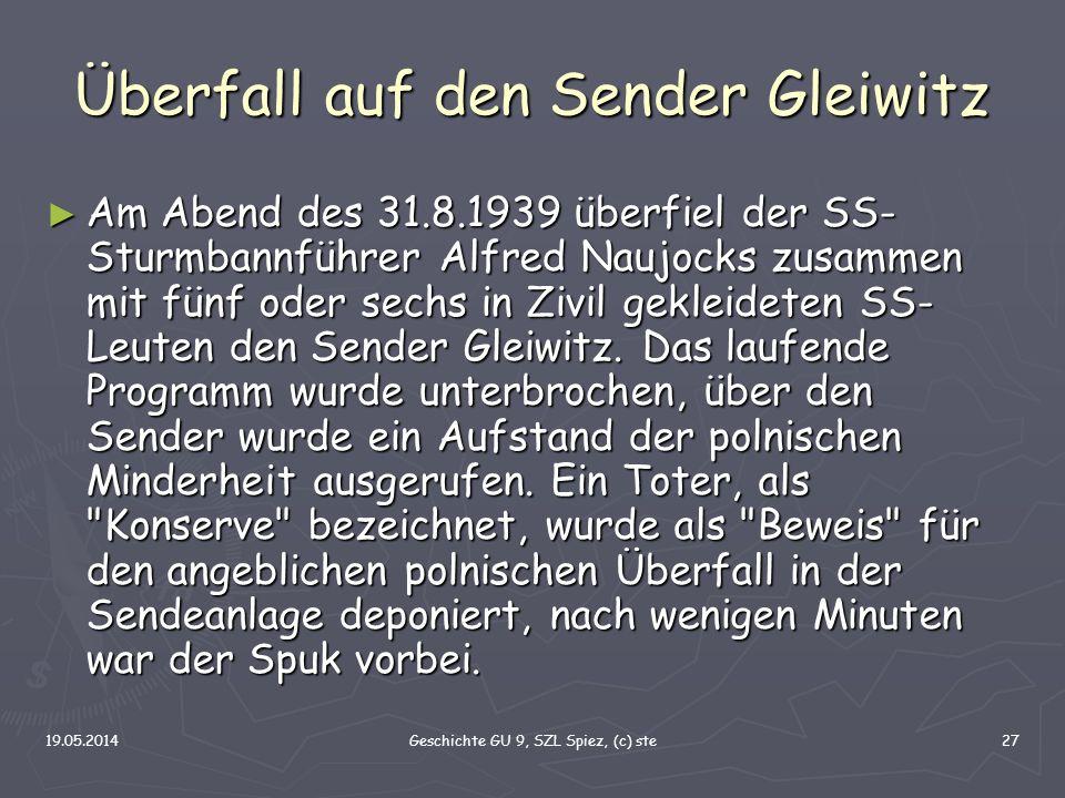 Überfall auf den Sender Gleiwitz