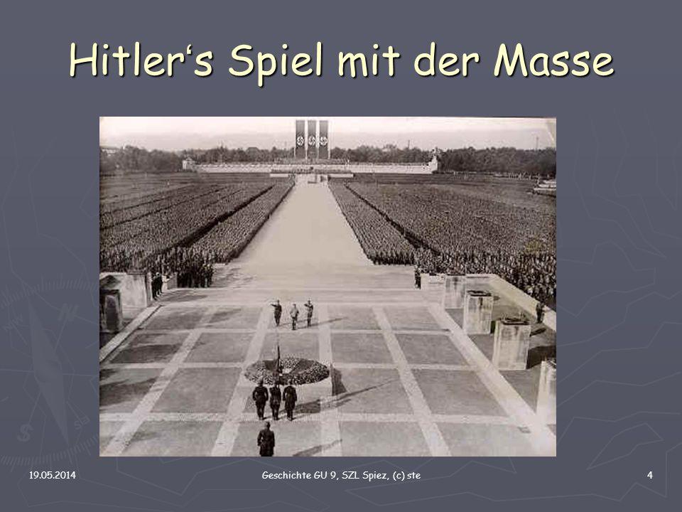 Hitler's Spiel mit der Masse