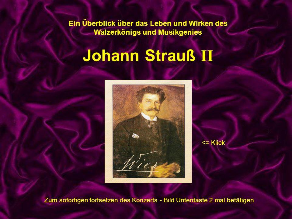 Ein Überblick über das Leben und Wirken des Walzerkönigs und Musikgenies Johann Strauß II