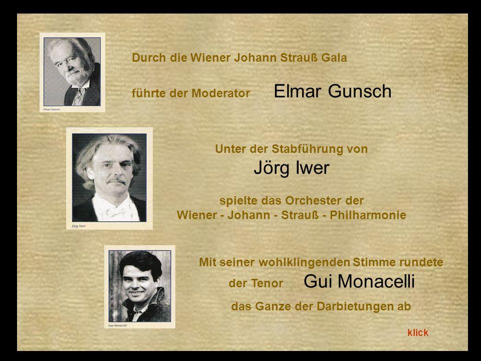 Durch die Wiener Johann Strauß Gala führte der Moderator Elmar Gunsch