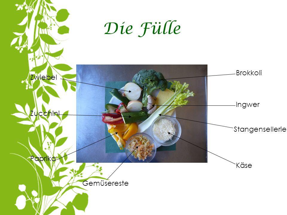 Die Fülle Brokkoli Zwiebel Ingwer Zucchini Stangensellerie Paprika