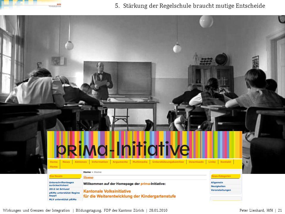 5. Stärkung der Regelschule braucht mutige Entscheide