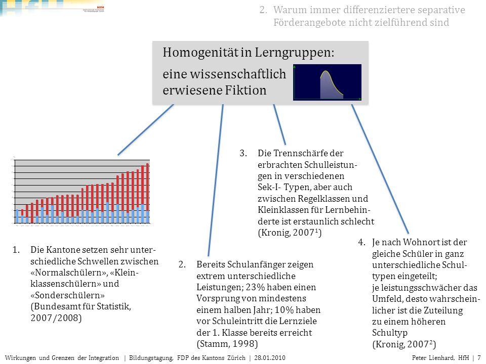 Homogenität in Lerngruppen: eine wissenschaftlich erwiesene Fiktion