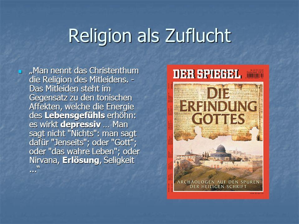 Religion als Zuflucht