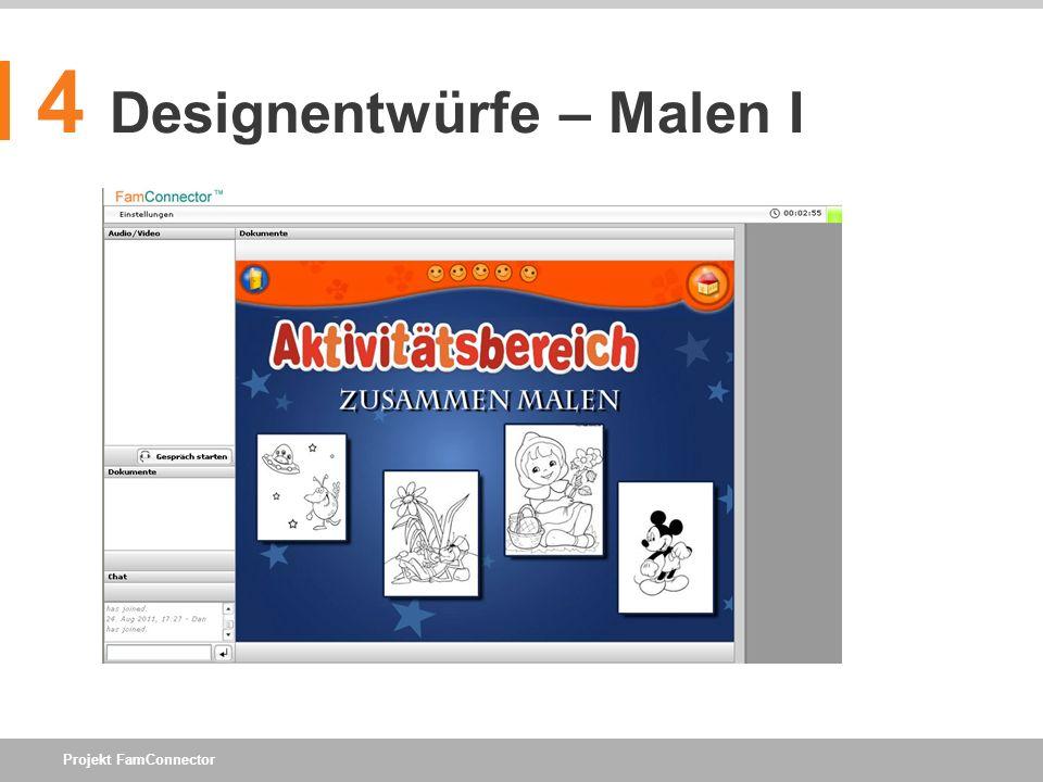 4 Designentwürfe – Malen I