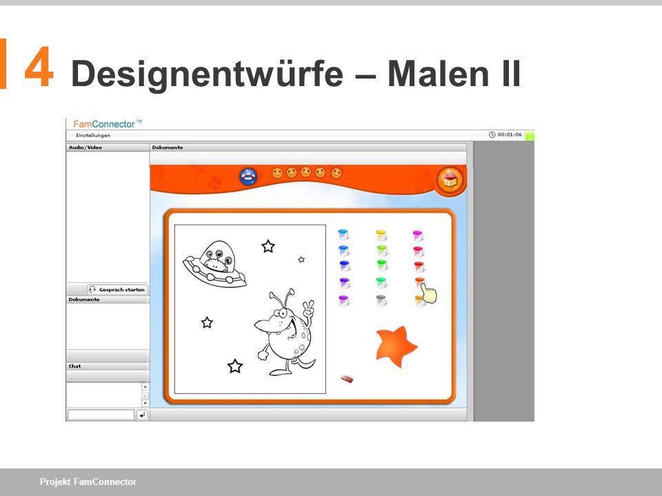 4 Designentwürfe – Malen II