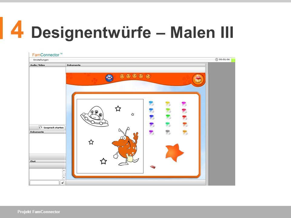 4 Designentwürfe – Malen III
