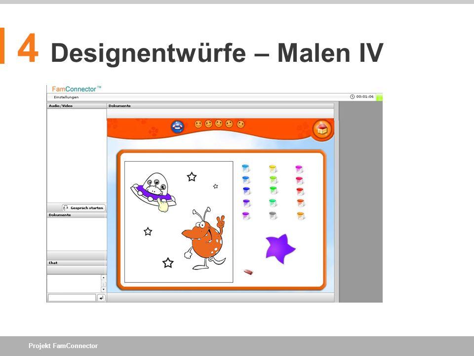 4 Designentwürfe – Malen IV
