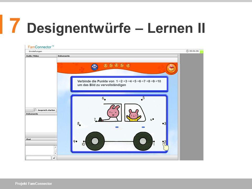7 Designentwürfe – Lernen II