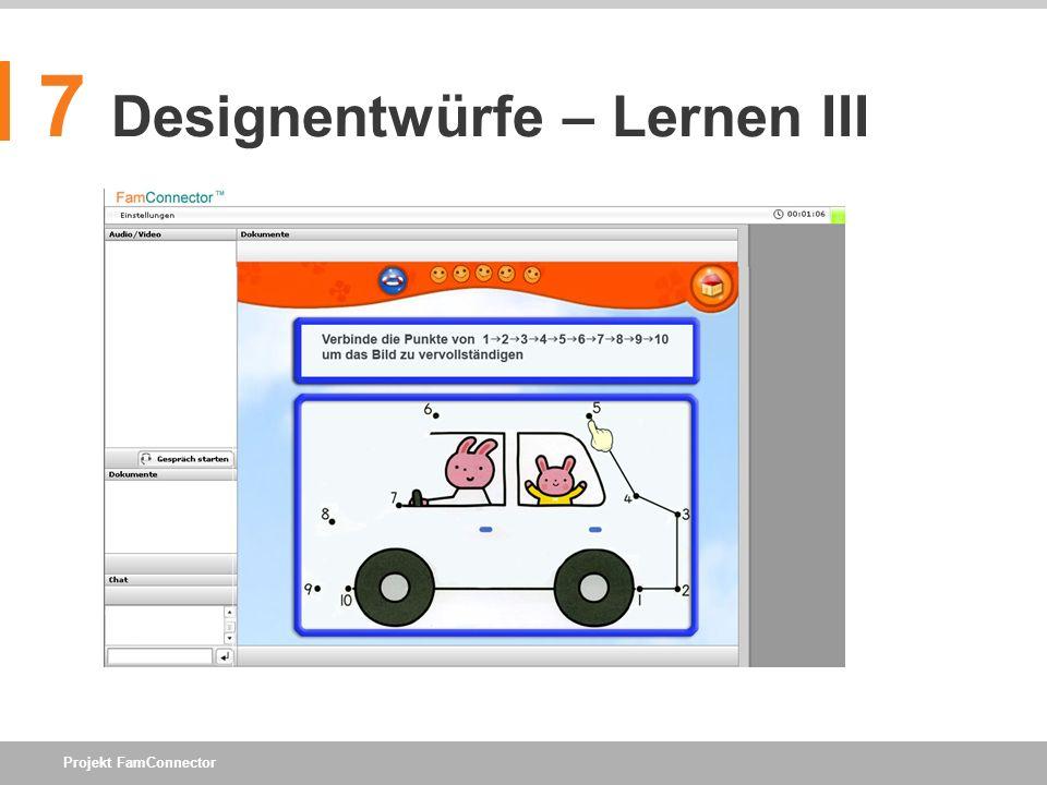 7 Designentwürfe – Lernen III