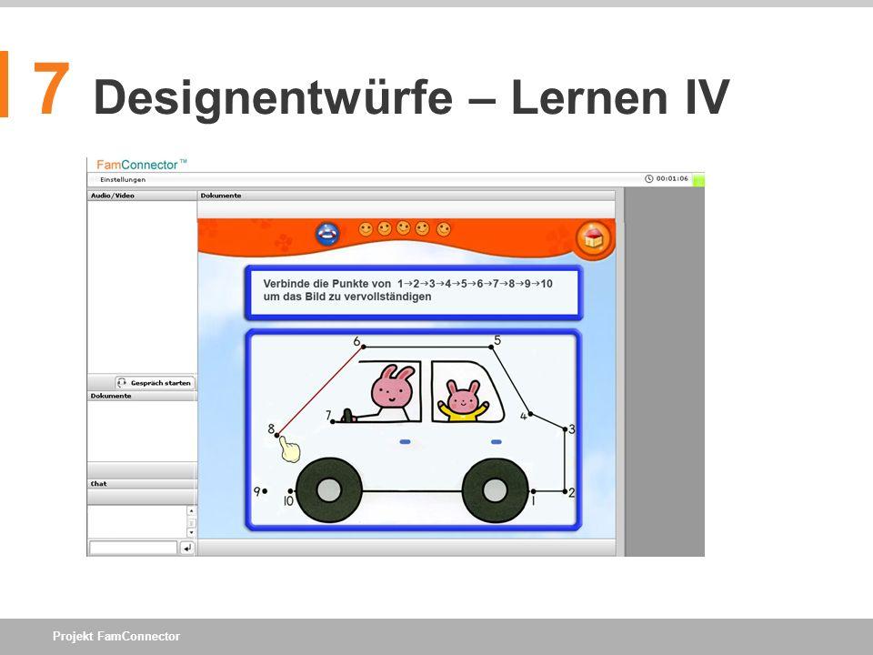 7 Designentwürfe – Lernen IV