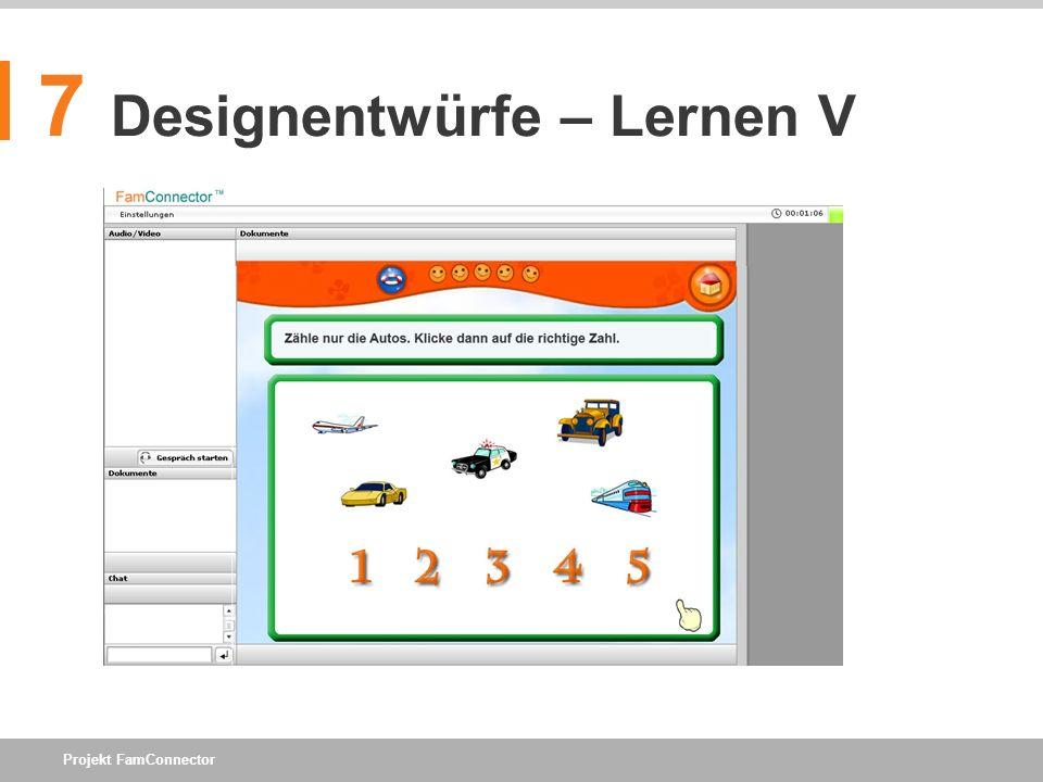 7 Designentwürfe – Lernen V
