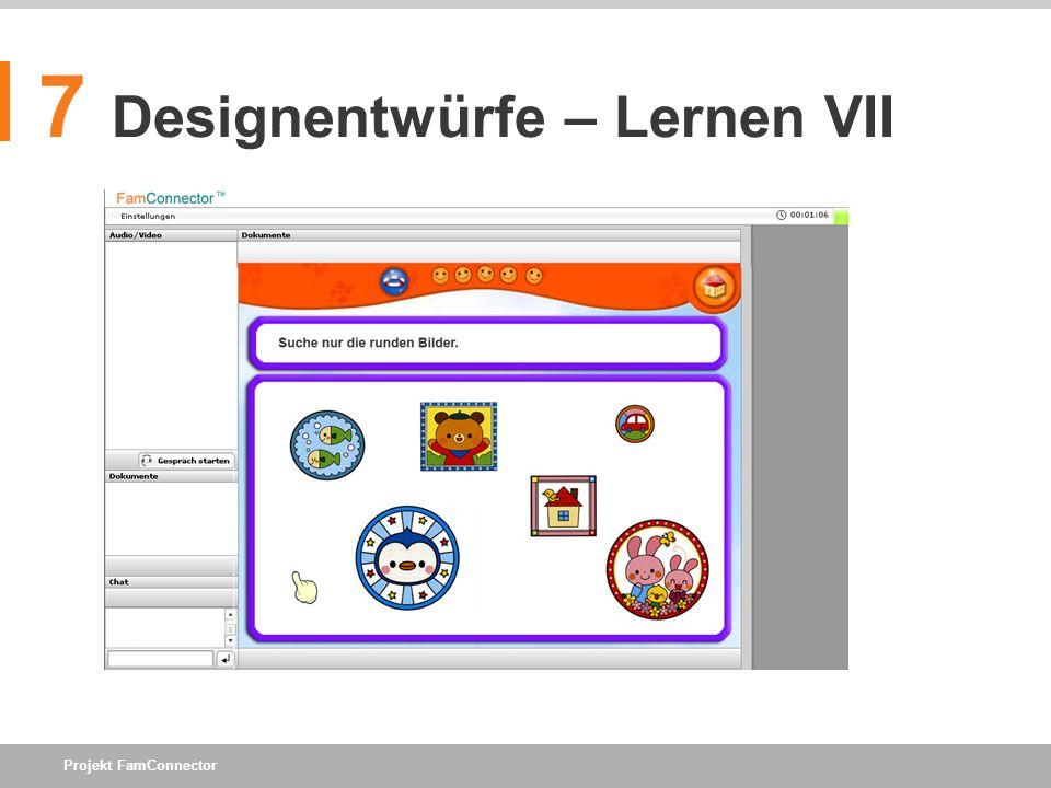 7 Designentwürfe – Lernen VII
