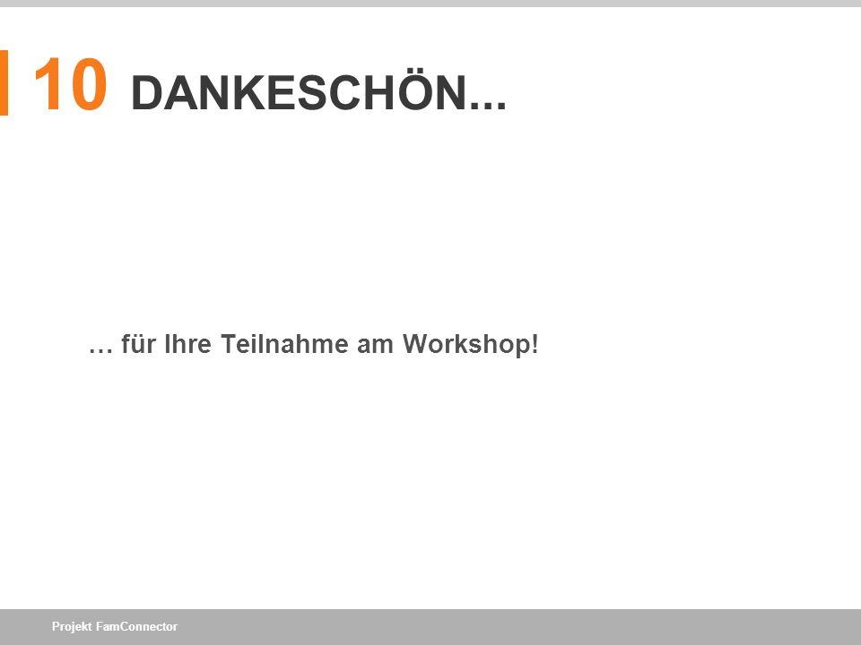 10 DANKESCHÖN... … für Ihre Teilnahme am Workshop!