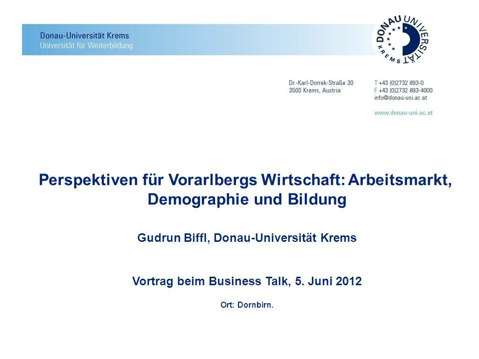 Perspektiven für Vorarlbergs Wirtschaft: Arbeitsmarkt,