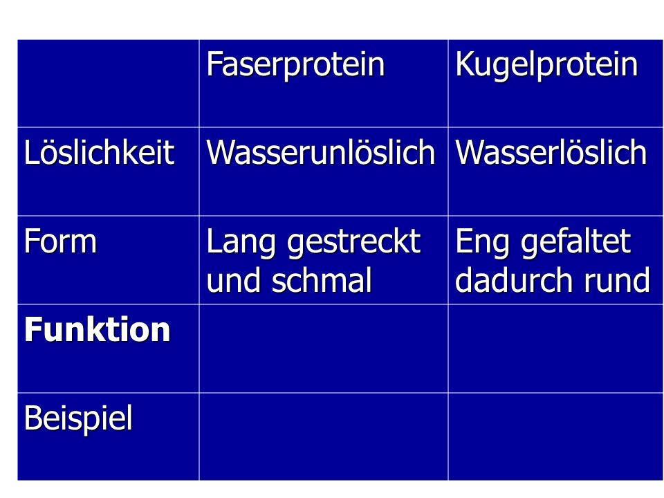 65 Eiweiße = Proteine  ppt herunterladen