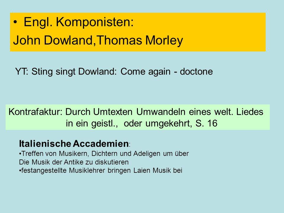 John Dowland,Thomas Morley