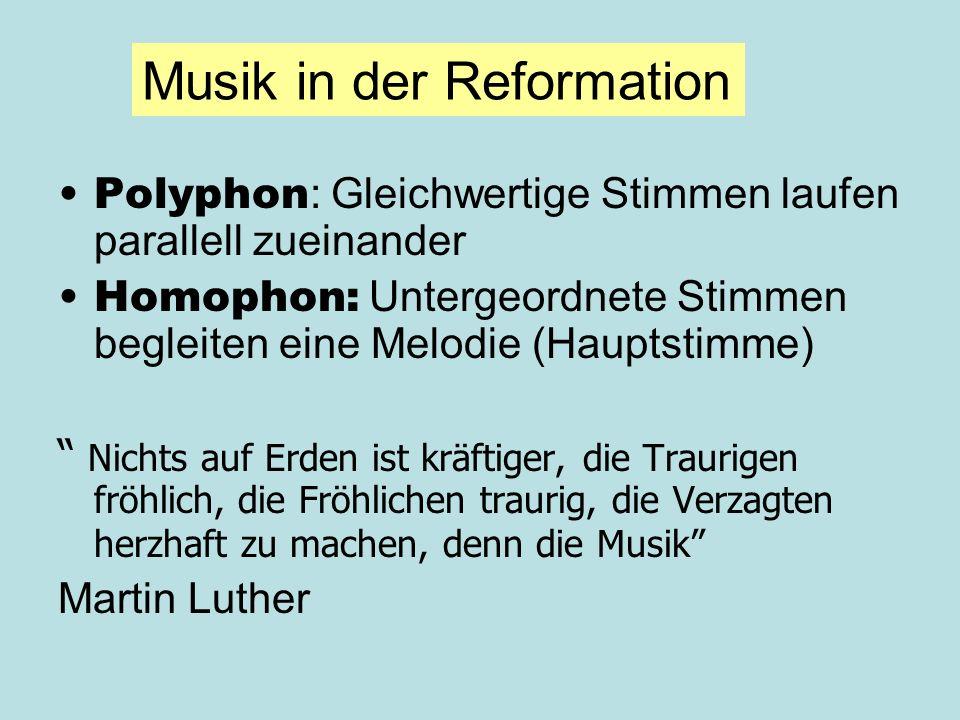Musik in der Reformation