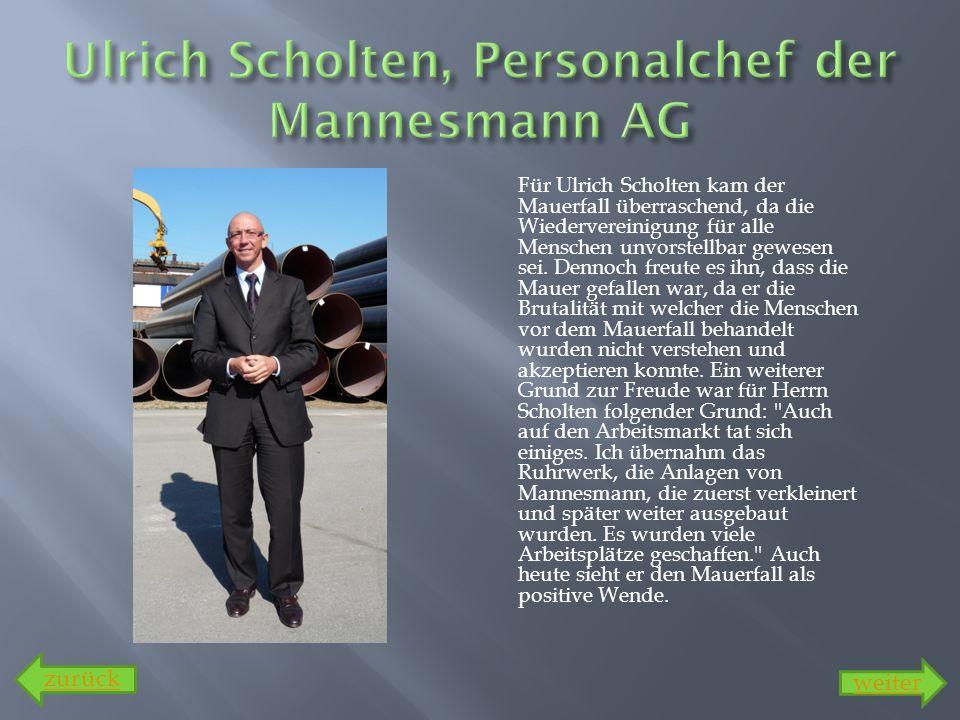 Ulrich Scholten, Personalchef der Mannesmann AG