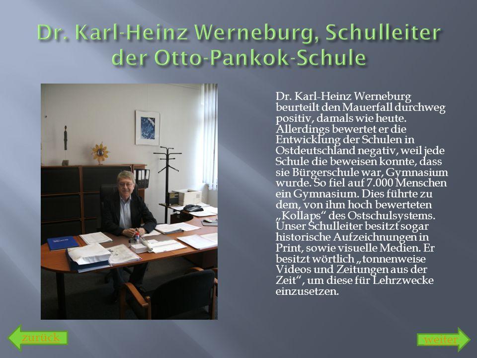 Dr. Karl-Heinz Werneburg, Schulleiter der Otto-Pankok-Schule
