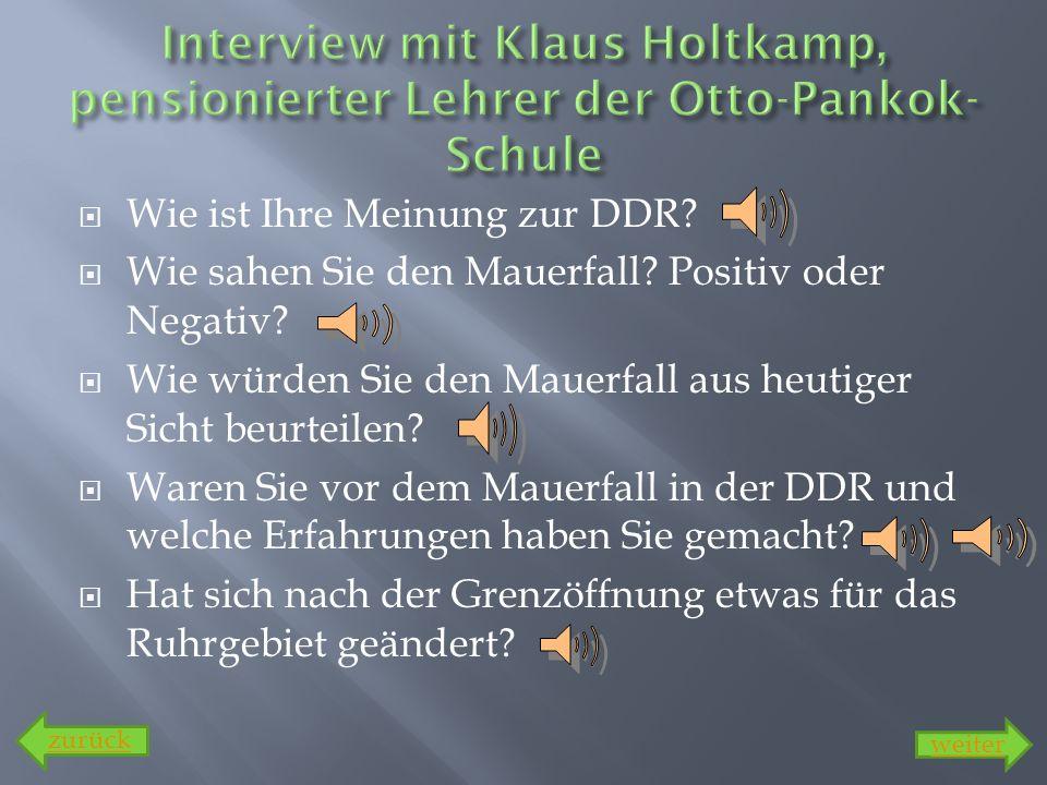 Interview mit Klaus Holtkamp, pensionierter Lehrer der Otto-Pankok-Schule