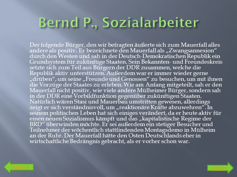 Bernd P., Sozialarbeiter