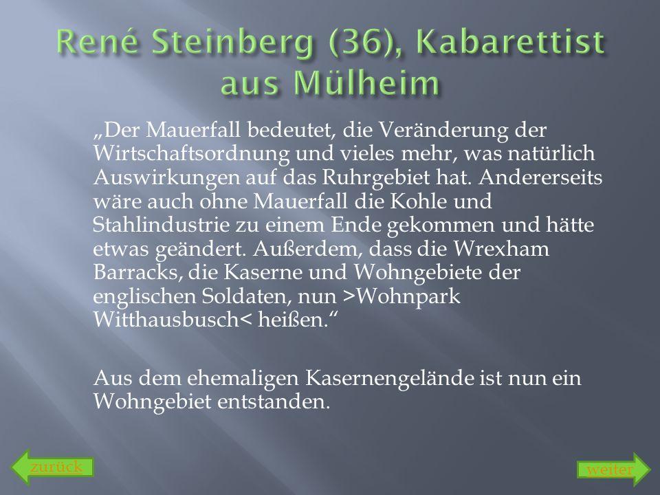 René Steinberg (36), Kabarettist aus Mülheim