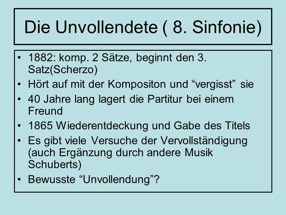 Die Unvollendete ( 8. Sinfonie)