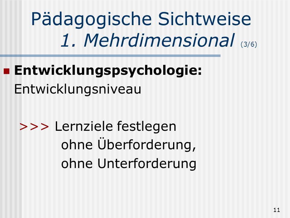 Pädagogische Sichtweise 1. Mehrdimensional (3/6)